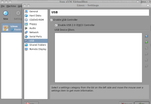 VirtualBox USB